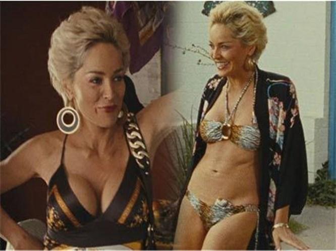 Sharon Stone bikinili